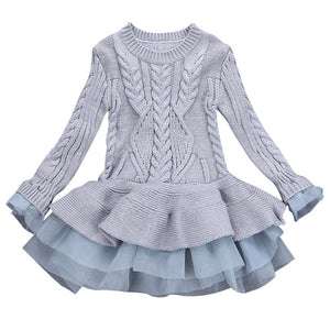 Girls Knitted Sweater Tutu Dress - Canitrini