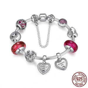 925 Sterling Silver Friendship Charms Bracelet - Canitrini