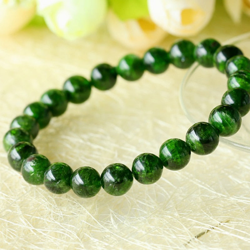 Genuine Green Chrome Diopside Bracelet
