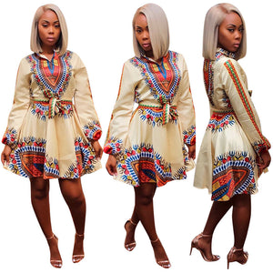 Dashiki Sassy Dress (S-XL) - Canitrini