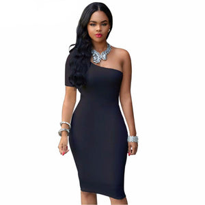 Bodycon One-Shoulder Sundress (S-3XL) - Canitrini