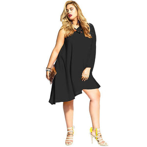 Asymmetrical Bibi Dress (S-4XL) - Canitrini