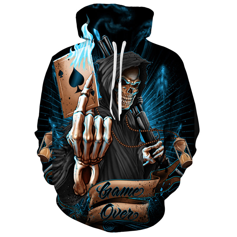 Game Over Skull Hoodie (S-5XL) - Canitrini
