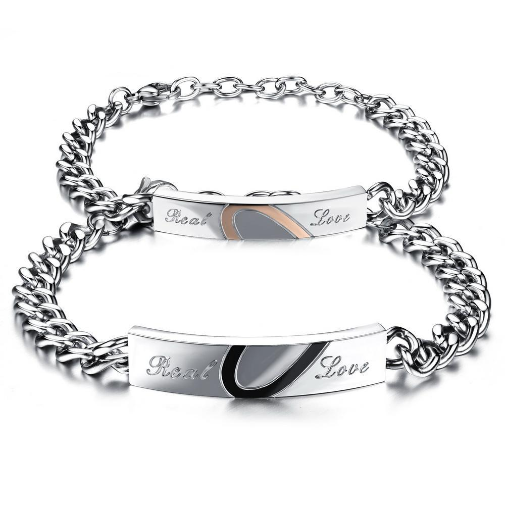 """Real Love"" Couples Bracelets - Canitrini"