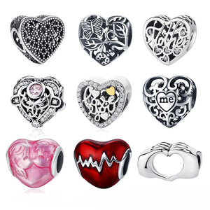925 Sterling Silver Heart Charms - Canitrini