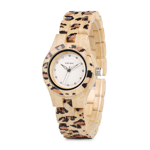 Leopard Print Wooden Watch - Canitrini