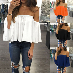Off Shoulder Casual Blouse (2XL-3XL) - Canitrini