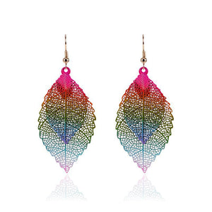 Luxury Double Leaf Dangle Earrings - Canitrini