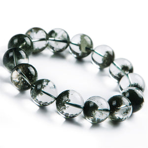 Natural Green Phantom Crystal Bracelet