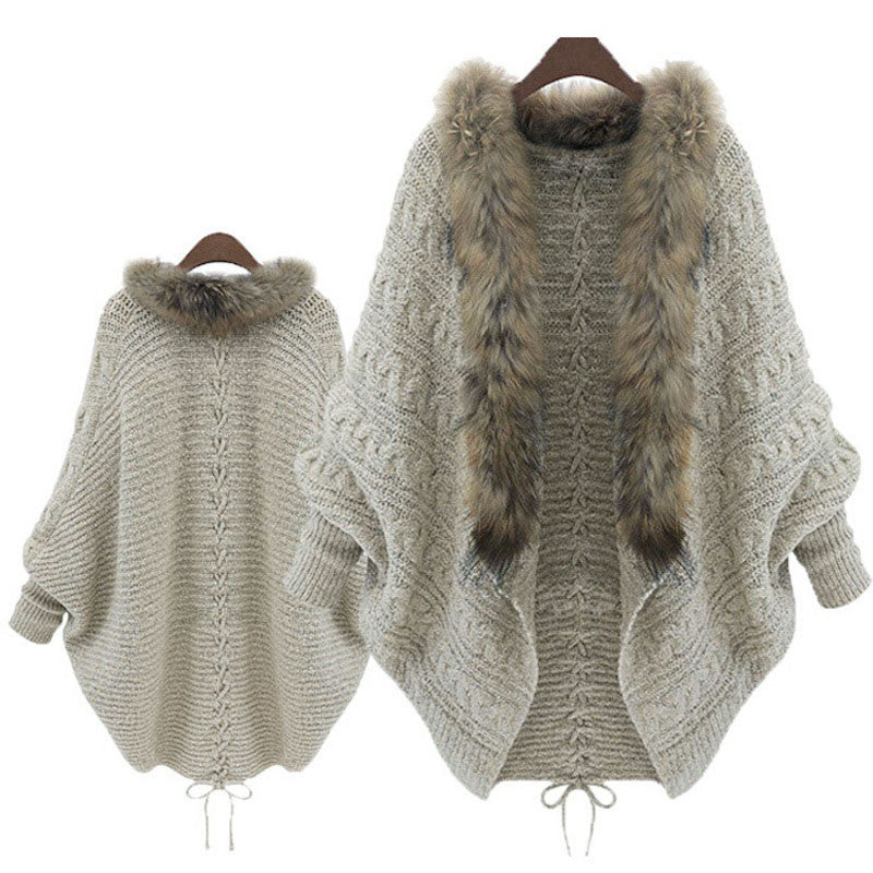 Fur Knitted Cardigan (One size)