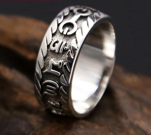 925 Sterling Silver Mantra Ring - Canitrini