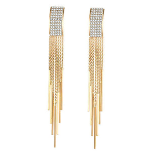 Crystal Tassel Mary Earrings - Canitrini