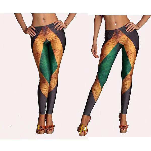 Jamaica Flag Leggings (S-4XL)