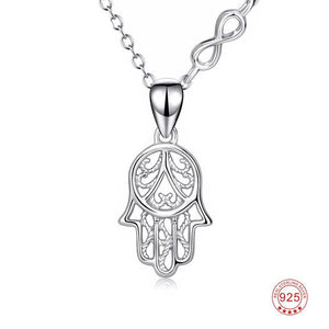 925 Sterling Silver Hamsa Necklace - Canitrini