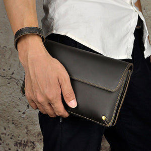 Genuine Leather Men's Clutch - Canitrini