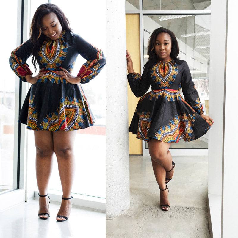 Dashiki Ifey Dress (L-3XL) - Canitrini