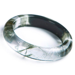 Green Phantom Quartz Crystal Bangle