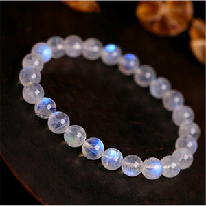 Natural Moonstone Blue Lights Bracelet