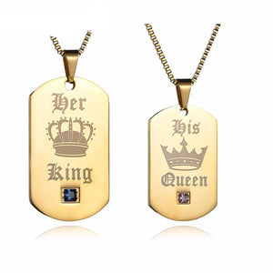 Her King and His Queen Dog Tags