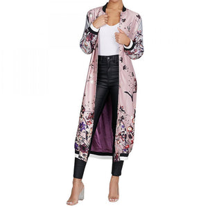 Vintage Floral Bomber Trench (S-XL) - Canitrini