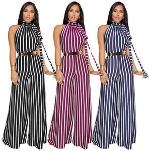 Backless Striped Jumpsuits (S-3XL) - Canitrini