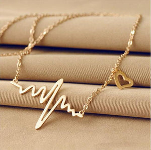 Electrocardiogram Necklace