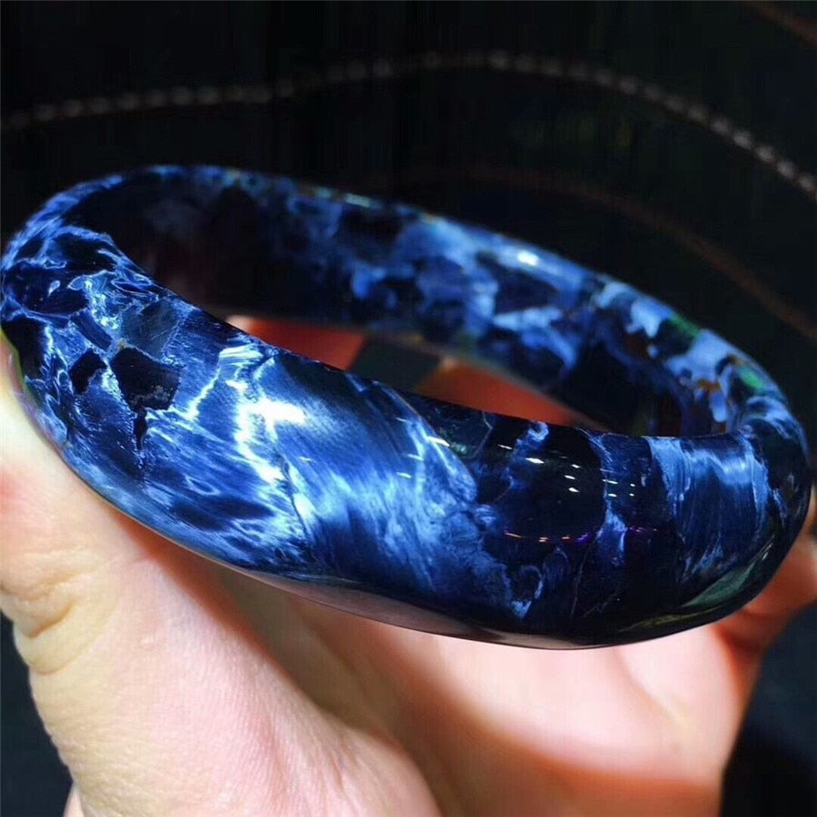 Natural Namibia Blue Pietersite Bangle AAAA
