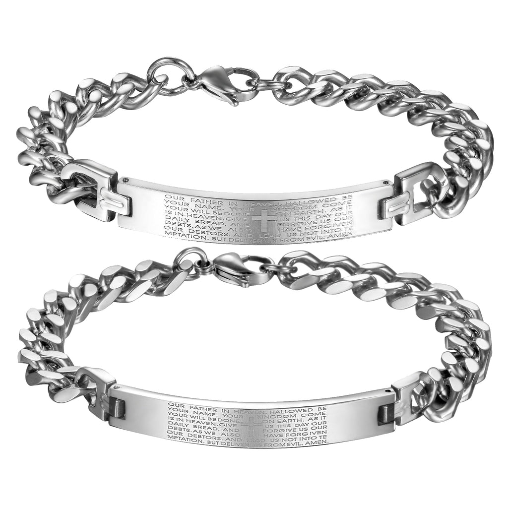 The Lord's Prayer Couples Bracelet