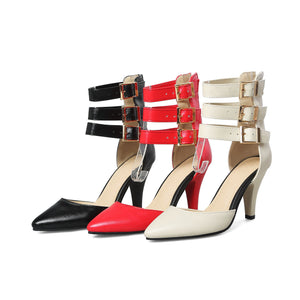Donna Leather Heels (Size 4-14.5) - Canitrini