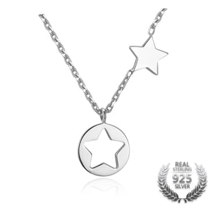 925 Sterling Silver Star Necklace - Canitrini