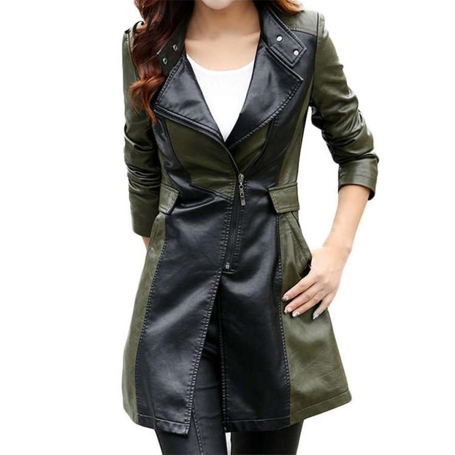 Pu Leather Mindy Jacket (M-3XL)