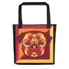 """Pop Pug Art"" All-Over Print Tote Bag (Oranges & Reds)"