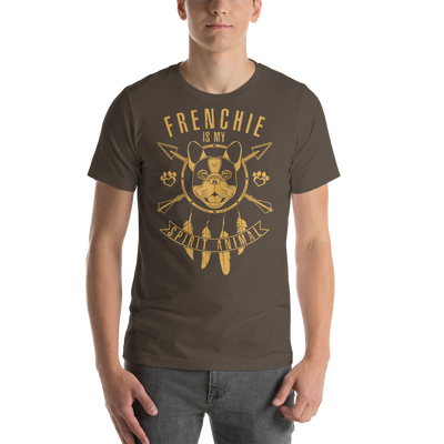 """Frenchie is my Spirit Animal"" Men's Short Sleeve Jersey Tee"