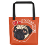 """I Woof You!"" All-Over Print Tote Bag"