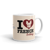 """I Love French Bulldogs"" Ceramic Mug"