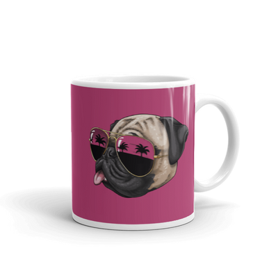 """California Pug"" Ceramic Mug"