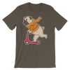 """Scooter Pug"" Men's Short Sleeve Jersey Tee"