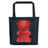 """Gummy Pug Red"" All-Over Print Tote Bag"