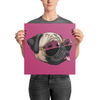 """California Pug"" Premium Luster Photo Paper Unframed Poster"