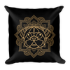"""Indo Pug"" Decorative Square Pillow Case With Stuffing"
