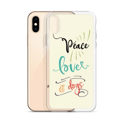 """Peace, Love & Dogs"" Phone Case for iPhone"