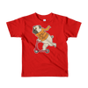 """Scooter Pug"" American Apparel Short Sleeve Kids T-Shirt (2 to 6 Year Olds)"
