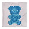"""Gummy Pug Blue"" Decorative Square Pillow Case Without Stuffing"
