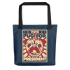 """VOTE PUG FOR PRESIDENT"" ALL-OVER PRINT TOTE BAG"