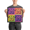 """Pup Pop Art"" Premium Luster Photo Paper Unframed Poster"