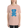 """Gummy Pug Blue"" Women's Short Sleeve Jersey Tee"