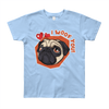 """I Woof You!"" American Apparel Short Sleeve Kids T-Shirt (8 to 12 Year Olds)"