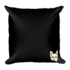 """Life is Better with a Frenchie"" Decorative Square Pillow Case With Stuffing"