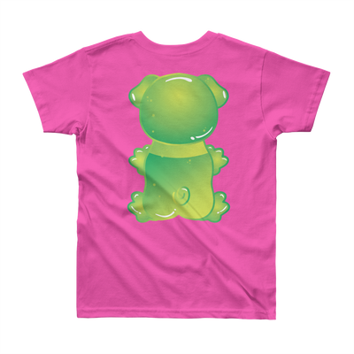 """Gummy Pug Green"" American Apparel Short Sleeve Kids T-Shirt (8 to 12 year olds)"
