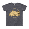 """Pug Off"" American Apparel Short Sleeve Kids T-Shirt (8 to 12 Year Olds)"